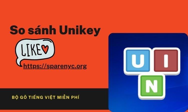 So sánh Unikey