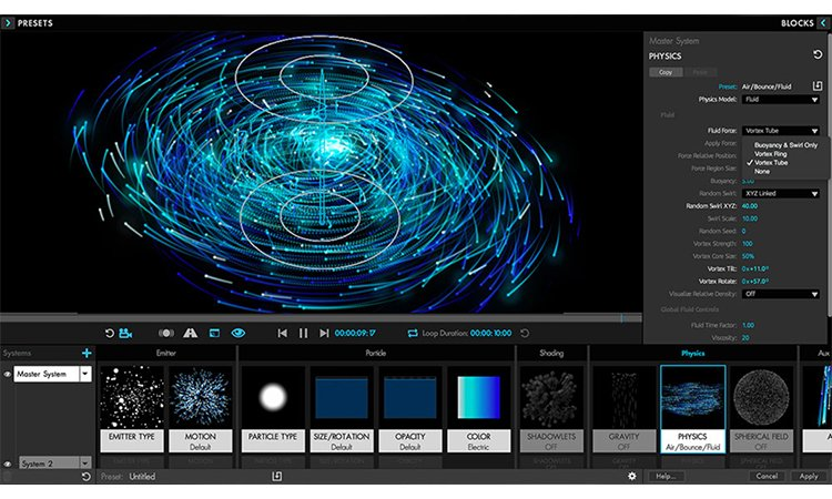 Tính năng của Red Giant Trapcode Suite