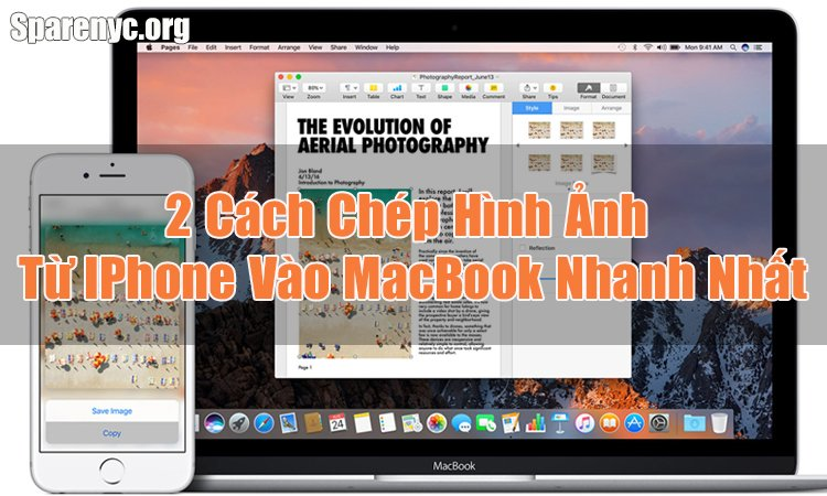 chep hinh anh tu iphone sang macbook