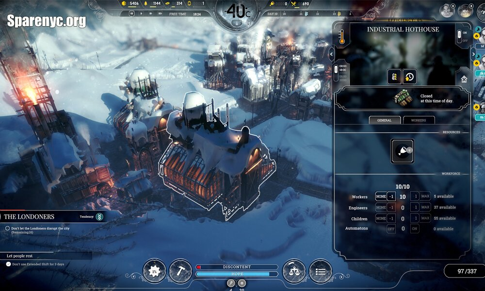 Gameplay của Frostpunk For Mac